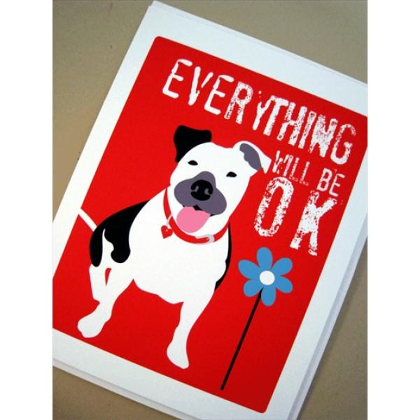 Pit Bull OK Note Cards